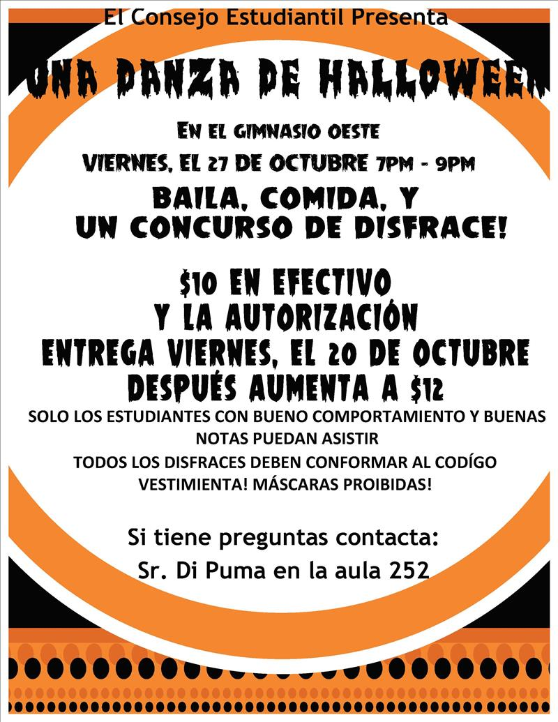 Halloween flyer spa
