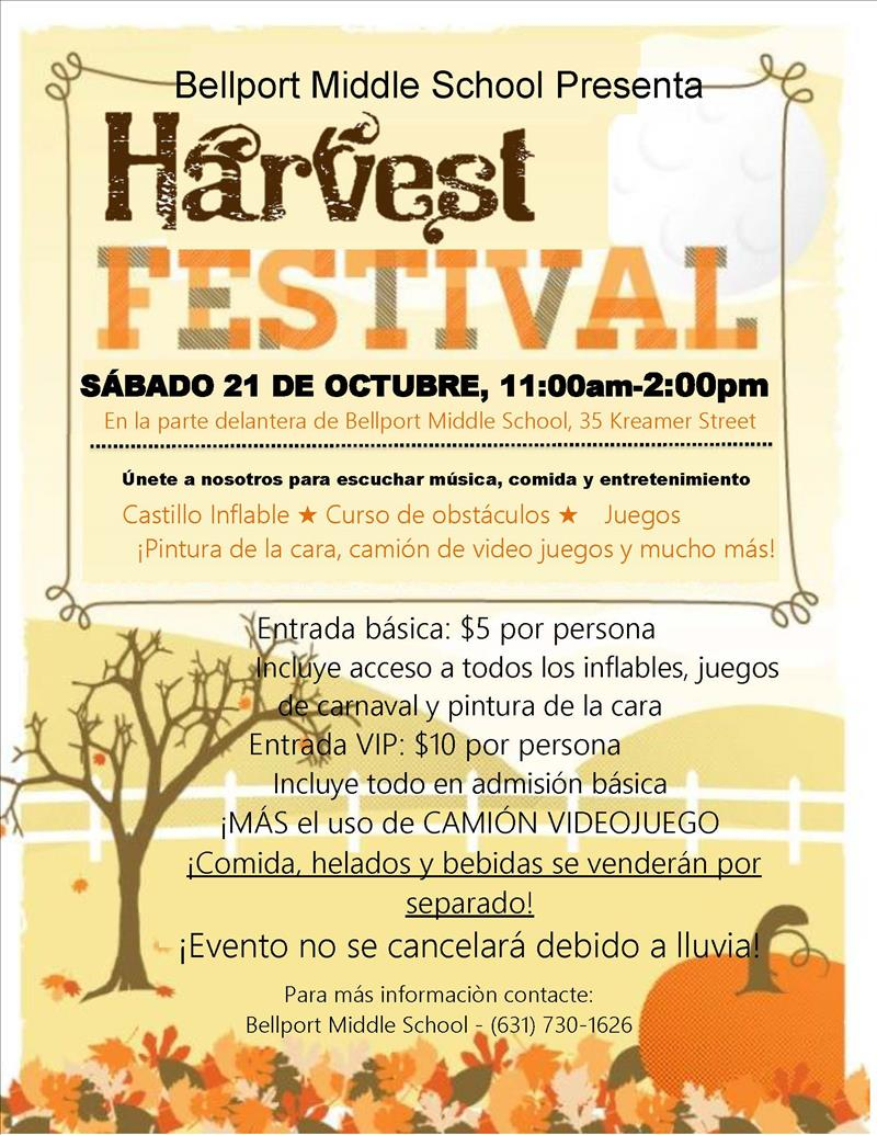harvest flyer spa