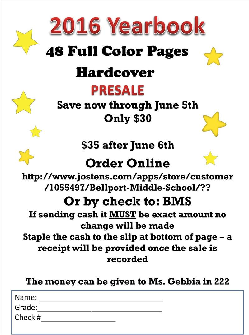 yearbook sales flyer