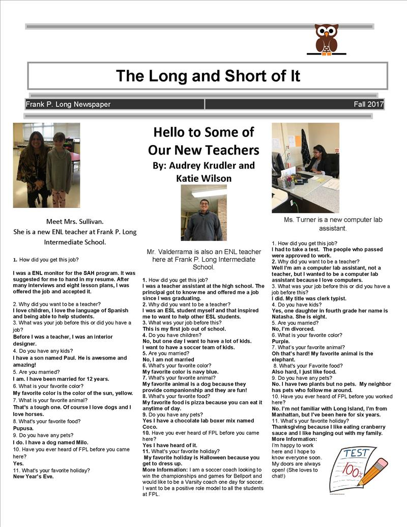 student newspaper - click here