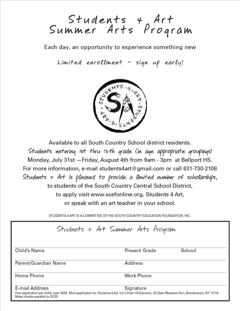 summer arts english flyer