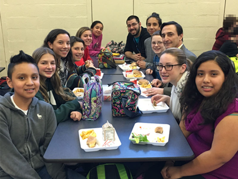 Middle School Student Government Lunch with Dr. Giani