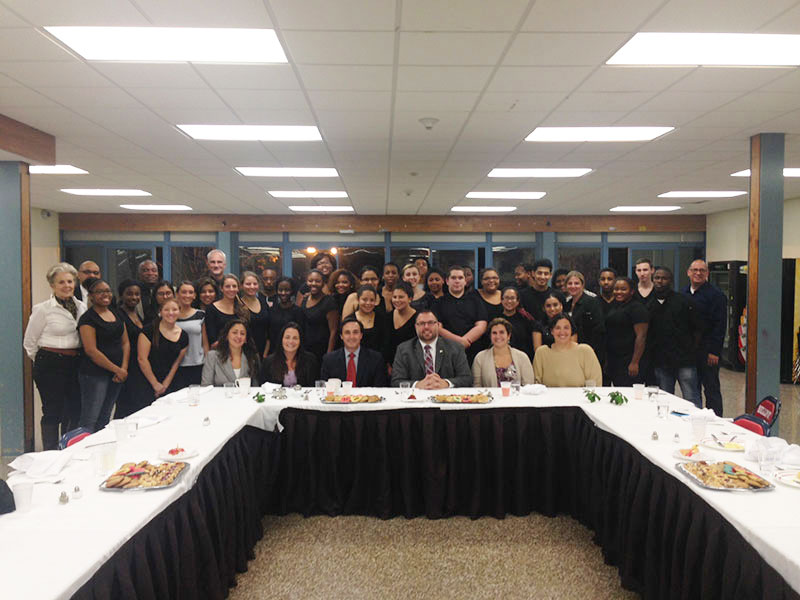 High School Culinary Students Host Board of Education Dinner