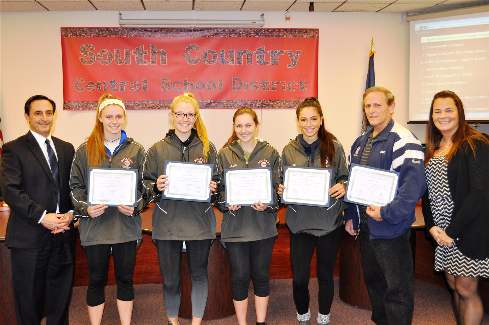 Board Honors Girls Volleyball League Champions