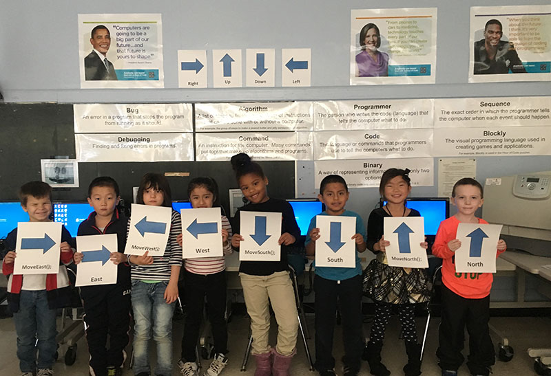 Brookhaven and Verne W. Critz Students Participate in 'Hour of Code'