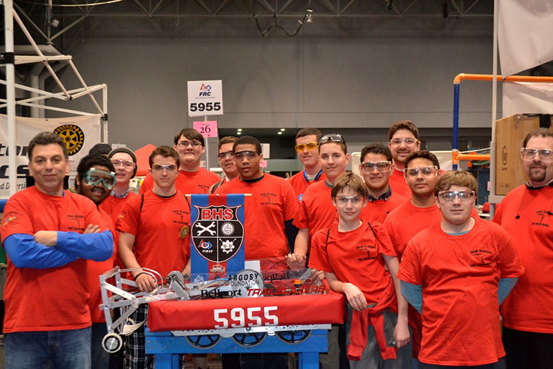 Bellport High School Robotics Team Places in Regional Competition