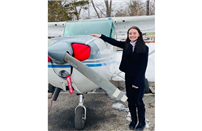 Kerri Campbell Earns Pilot's License Photo thumbnail182260