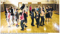 Frank P Long students learn ballroom dance through Dancing Classrooms