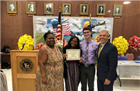 Bellport HS Student Receives County Summer Youth Award photo