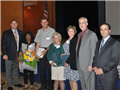 Board President Chris Picini Retirees Ida Brown, Rich Drodzowski, Rayna Vertichio, Darlene Massey, Principal Tim Hogan and Superintendent of Schools Joseph Giani .