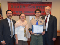 Bellport HS Junior Awarded Rank of Eagle Scout thumbnail161431