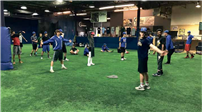 Bellport varsity baseball players prepare themselves at All-Pro Sports Academy for the 2017 season. thumbnail74491