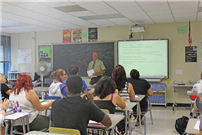 BHS English Teacher Mr. Uhrie, starts off the school year. (LI Advance) thumbnail65286