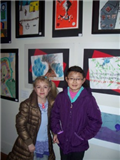 Brookhaven Third Grade Students Nikolle Slavnova and Rachel Li at the Colors of Long Island Opening Exhibit on Sunday, March 16th